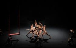 Ballet lutte-moderne d'homme : Trollius chinensis Photos stock