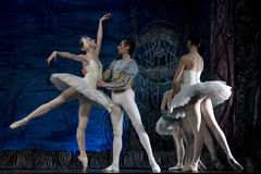 Ballet. MADRID, SPAIN - JANUARY 25, 2011: Russian imperial ballet's performance Swan Lake ballet at Teatro Compac Gran Via, January 25, 2011 in Madrid, Spain Stock Image