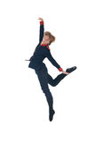 Ballet man jumping. On a white background Stock Photos