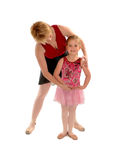 Ballet Mistress Teaching Girl Child Student royalty free stock images