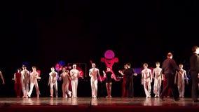 Ballet moderno Degage almacen de metraje de vídeo