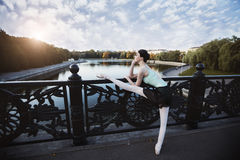 Ballet in the old city Royalty Free Stock Photo