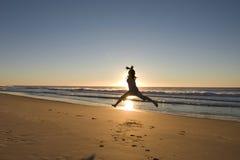 Ballet op het strand Royalty-vrije Stock Foto's
