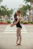 Ballet over Stad van Ventura stock foto's
