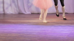 Ballet pair feet stock footage