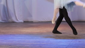 Ballet pair feet stock video footage
