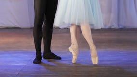 Ballet pair feet stock video footage