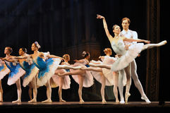 Ballet. Paquita ballet performed by ballet company of St.Petersburg Conservatory, Russia Stock Photo