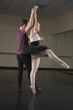 Ballet partners dancing gracefully together Stock Photo