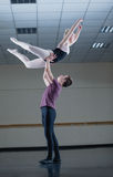 Ballet partners dancing gracefully together Royalty Free Stock Photo