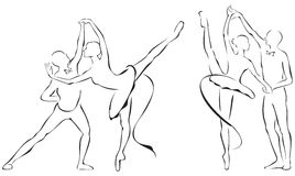 Ballet partners Design Stock Images