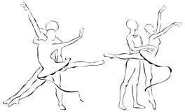 Ballet partners Design Royalty Free Stock Photo