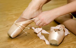 Ballet pointe shoes royalty free stock photography