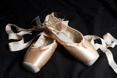Ballet Pointe Shoes and Crown royalty free stock photography