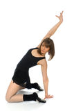 Ballet pose with arched back Royalty Free Stock Photography