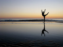 Ballet Posing in the sunset Royalty Free Stock Images
