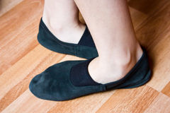 Ballet position of foot royalty free stock image