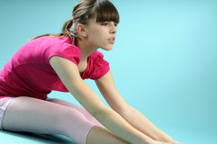 Ballet practicante del instructor blanco Imágenes de archivo libres de regalías
