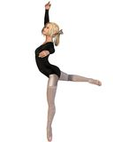 Ballet Practice - Attitude Pose Stock Images