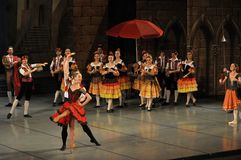 Ballet production. Don Quichotte ballet, ballet company of the Odessa National Academic Theater of Opera and Ballet, Ukraine Royalty Free Stock Photography