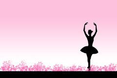Ballet rose Photographie stock