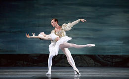 Ballet royal russe de cygne de perfome de ballet Photographie stock