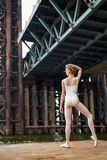 Ballet on a rusty platform Royalty Free Stock Image