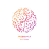 Ballet school logo Royalty Free Stock Photography