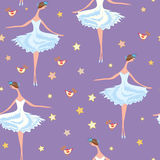 Ballet seamless  pattern Royalty Free Stock Photography