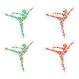 Ballet. A set of ballet icons Royalty Free Stock Photography
