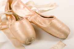 Ballet Shoe on a white background Royalty Free Stock Image