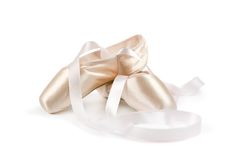Ballet shoes. On white background Stock Image