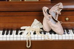 Ballet shoes Stock Photos