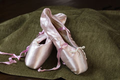 Ballet Shoes on  Display Royalty Free Stock Photography