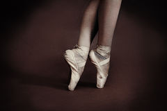 Ballet shoes royalty free stock images