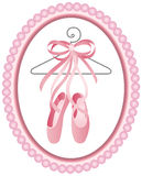 Ballet shoes label vector illustration
