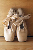 Ballet shoes. Old used shoes for ballet Stock Photos