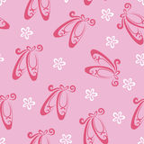 Ballet shoes pattern Stock Images