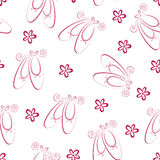 Ballet shoes pattern Stock Photos