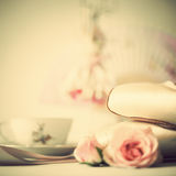 Ballet Shoes and roses Royalty Free Stock Photo