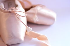 Ballet shoes. Or slippers, close up. Not so new. Please, if you want, look another photo of  ID 89050413 stock photo