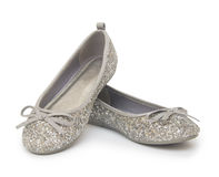 Ballet shoes  on the white background Stock Photos