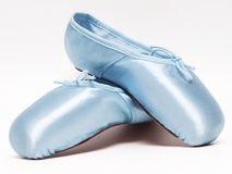 Ballet shoes. On white background to full size format Stock Photography