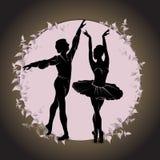 ballet Silhouet van voeten dansende mensen royalty-vrije illustratie
