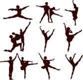 Ballet_silhouette Fotografia Stock