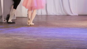 Ballet single feet stock video footage