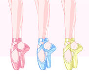 Ballet slippers royalty free illustration