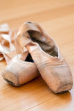 Ballet slippers in well-worn condition Stock Image