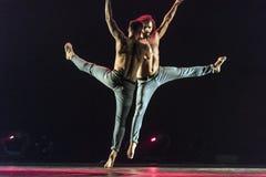 Ballet-spectacle contemporain à la scène Images libres de droits