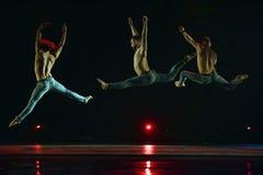 Ballet-spectacle contemporain à la scène Photo stock